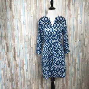 Anthropologie S Maeve Ikat Frequencies Shirtdress